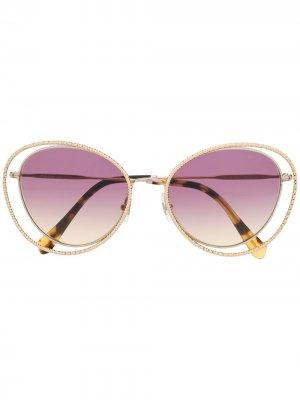 Солнцезащитные очки La Mondaine Miu Eyewear. Цвет: золотистый