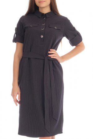 Платье-рубашка Lamiavita. Цвет: темно-синий