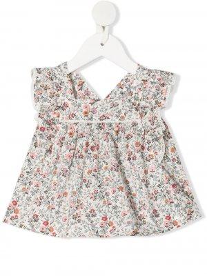Блузка с оборками и цветочным принтом Tartine Et Chocolat. Цвет: нейтральные цвета