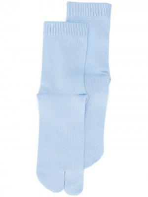 Носки Tabi Maison Margiela. Цвет: синий