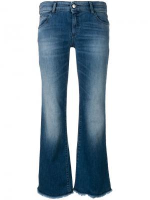 Расклешенные джинсы с выбеленным эффектом Emporio Armani. Цвет: синий