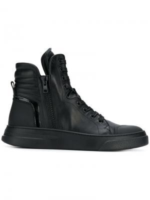 Хайтопы на шнуровке Bruno Bordese. Цвет: черный