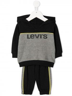 Levis Kids спортивный костюм в стиле колор-блок с принтом Levi's. Цвет: черный