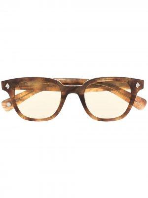 Солнцезащитные очки Naples Sun с затемненными линзами Garrett Leight. Цвет: коричневый