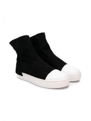 TEEN Softy ankle boots Cinzia Araia Kids. Цвет: черный