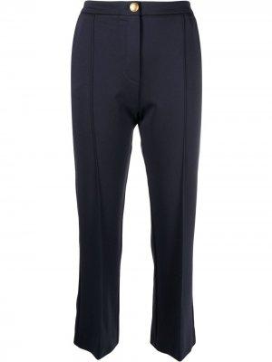 Укороченные брюки прямого кроя Pinko. Цвет: синий