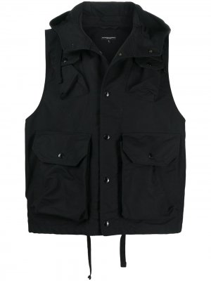 Жилет с капюшоном Engineered Garments. Цвет: черный