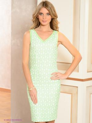 Платье Bandolera. Цвет: светло-зеленый, белый