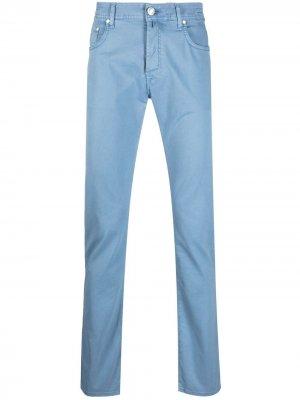 Прямые брюки с платком Jacob Cohen. Цвет: синий