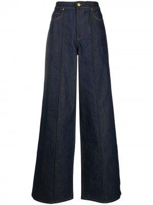 Широкие джинсы Victoria Beckham. Цвет: синий