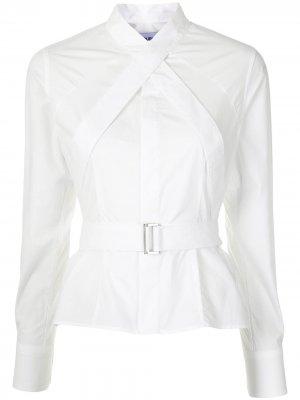 Рубашка с пряжкой AMBUSH. Цвет: белый