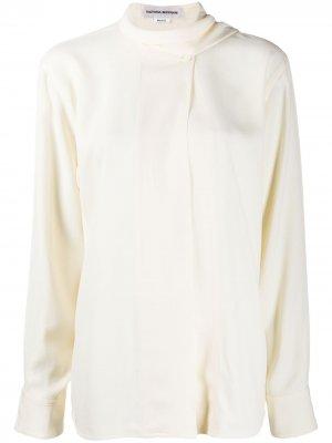 Блузка с шарфом Victoria Beckham. Цвет: нейтральные цвета