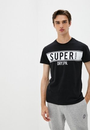 Футболка Superdry. Цвет: черный