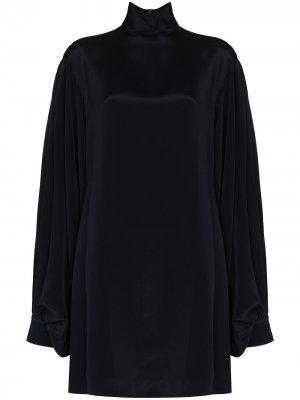 Платье мини с рукавами бишоп Victoria Beckham. Цвет: синий