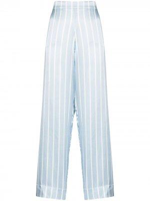 Пижамные брюки London в полоску Asceno. Цвет: синий