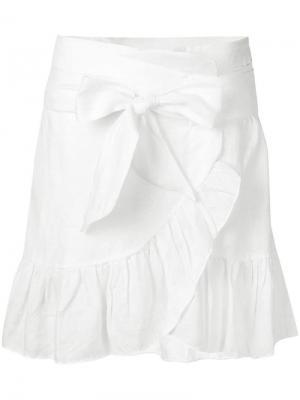 Tempster wrap-effect skirt Isabel Marant Étoile. Цвет: белый