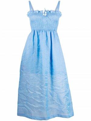 Платье миди Herra со сборками Baum Und Pferdgarten. Цвет: синий