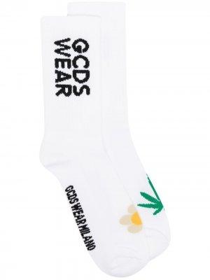 Носки с принтом Gcds. Цвет: белый