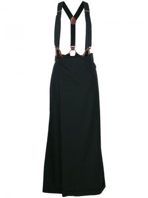 Брюки-юбка с подтяжками Jean Paul Gaultier Vintage. Цвет: черный