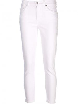 Crop rocket highrise jeans Citizens Of Humanity. Цвет: белый