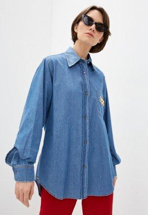 Рубашка джинсовая N21. Цвет: голубой