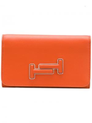Logo wallet Tod's. Цвет: оранжевый