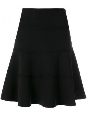 Юбка с кружевными вставками Alaïa Vintage. Цвет: черный