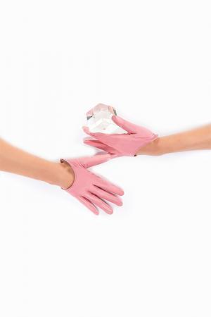 Перчатки Michel Katana. Цвет: светло-розовый