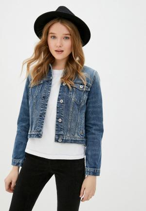 Куртка джинсовая Scotch&Soda. Цвет: синий