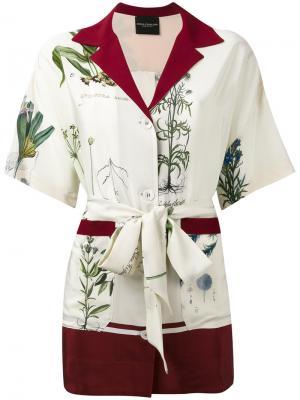 Рубашка с поясом Erika Cavallini. Цвет: нейтральные цвета