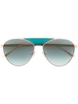 Aviator sunglasses Jimmy Choo Eyewear. Цвет: розовый