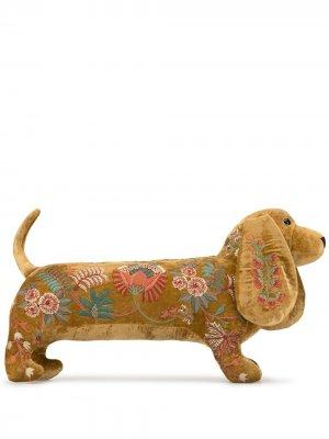 Мягкая игрушка с цветочной вышивкой Anke Drechsel. Цвет: золотистый