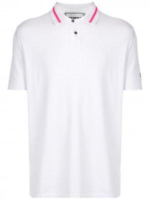 Рубашка поло с вышивкой Iceberg. Цвет: белый