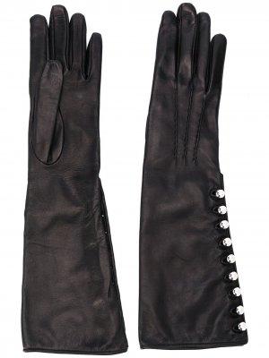 Перчатки с пуговицами Ermanno Scervino. Цвет: черный