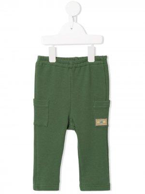 Легинсы с вышивкой Familiar. Цвет: зеленый