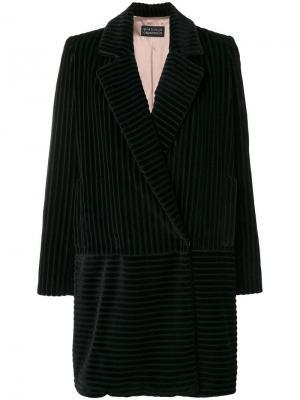 Вельветовое пальто-блейзер Gianluca Capannolo. Цвет: черный