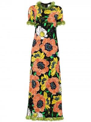 Вечернее платье с пайетками Ashish. Цвет: черный