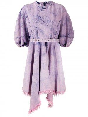 MarquesAlmeida джинсовое платье с объемными рукавами Marques'Almeida. Цвет: розовый