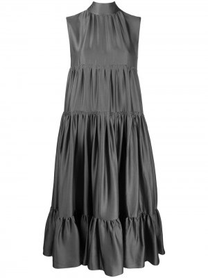 Платье-трапеция без рукавов Rochas. Цвет: серый