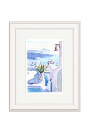 Картина В тени OLGA GLAZUNOVA. Цвет: голубой