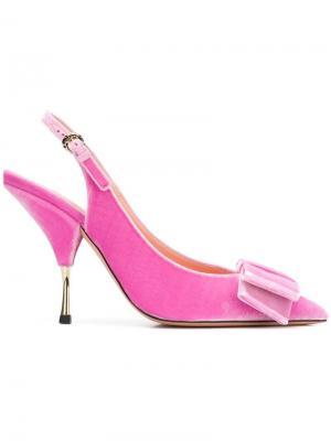 Bow slingback pumps Rochas. Цвет: розовый