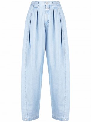 Зауженные джинсы из органического хлопка Closed. Цвет: синий