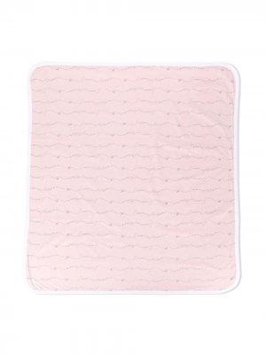Одеяло с вышитым логотипом Emporio Armani Kids. Цвет: розовый
