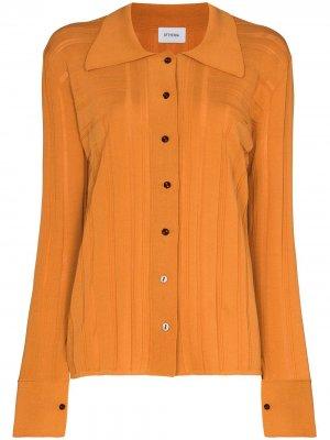 Рубашка с геометричным узором EFTYCHIA. Цвет: оранжевый