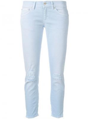 Укороченные джинсы узкого кроя Dondup. Цвет: синий