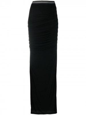 Длинная юбка с завышенной талией Vera Wang. Цвет: черный