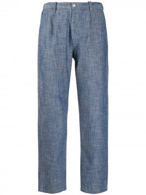 Укороченные брюки прямого кроя Altea. Цвет: синий