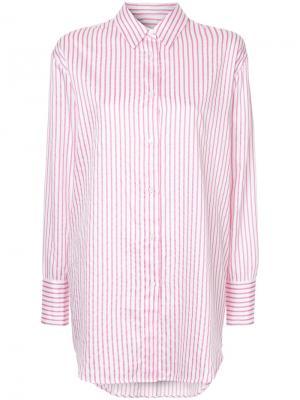 Рубашка в полоску Saxa Mads Nørgaard. Цвет: розовый