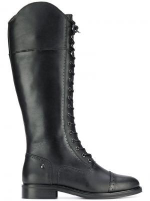 Сапоги на шнуровке Trussardi Jeans. Цвет: черный