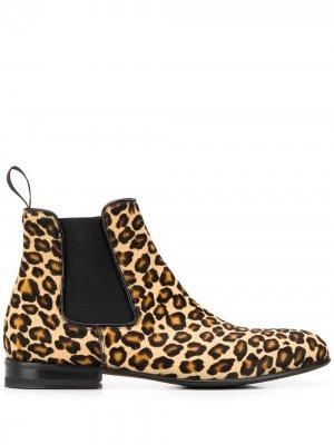 Ботинки челси Lexi с зебровым принтом Scarosso. Цвет: нейтральные цвета